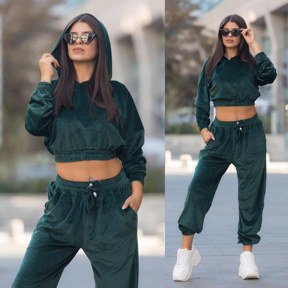 Trening Lorie din catifea oversize Positive Fashion